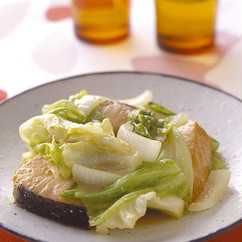 キャベツと鮭のちゃんちゃん焼き