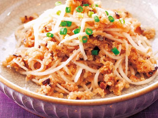 キヌアの大根ジャージャー麺