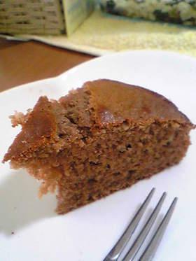 卵なし☆簡単ふわふわチョコバナナケーキ
