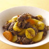 栗と牛肉の韓国風煮もの