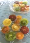 プチトマトのカラフル水玉サラダ