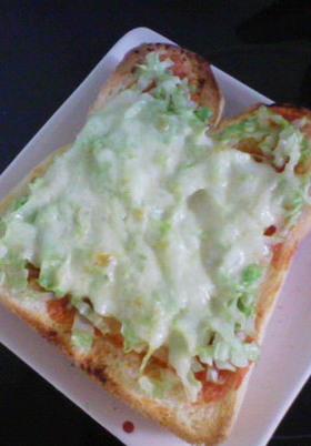 3分キャべチーズトースト