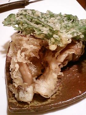 春菊と舞茸の天ぷら