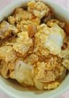 めんつゆ不要☆フライパンで半熟卵の親子丼