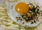目玉焼きアレンジふりかけ味❤簡単弁当丼朝