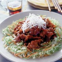 豚薄切り肉の中華風から揚げ