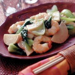 青梗菜とたけのこの炒め煮