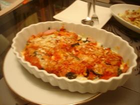 なすとモッツアレラチーズのオーブン焼き