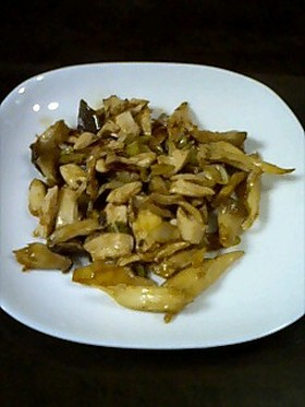 エリンギと鶏ササミのヘルシーオイスター焼