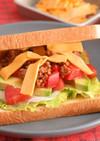 食パンで! タコスサンドイッチ