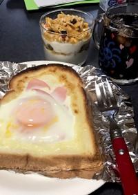カルピスソフトの卵のせトースト