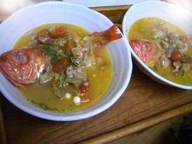 ♪金目鯛の地中海風♪スープ仕立て♪