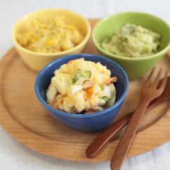 定番ポテトサラダと2色のカラフルポテトサラダ