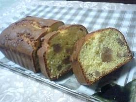 クルミとマロングラッセのケーキ
