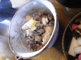 雑穀米で鯛ご飯