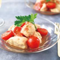 鶏胸肉のトマト酢マリネ