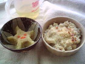 離乳食、ドリア、スィートポテト
