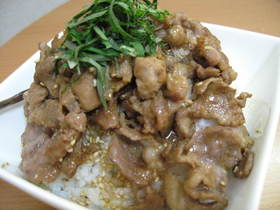 ガッツリ!簡単豚丼