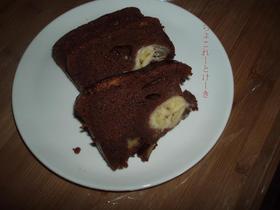 材料は2つのチョコレートケーキ