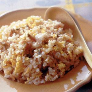 ザーサイと卵の炒飯
