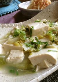 レタスと豆腐の鶏ガラとろとろ煮