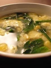 美肌☆簡単 基本のほうれん草と卵のスープ