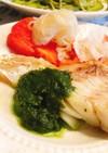 ジェノベーゼソースで白身魚のムニエル♡