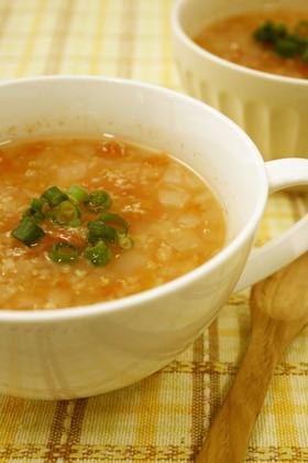 無添加白だしで!キヌアとトマトのスープ