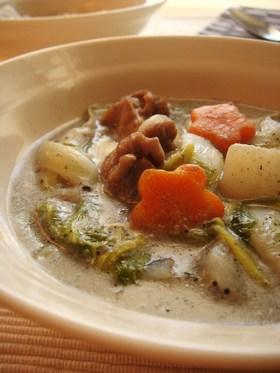 冬野菜で作る、ヘルシー黒ゴマシチュー