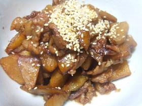 チャーテと豚肉の炒め煮