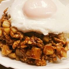 簡単&新食感!長芋のキーマカレー♡