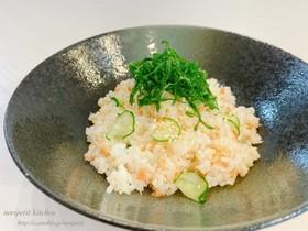 鮭フレークdeパパッと混ぜ寿司♡