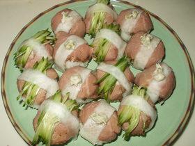 すし酢を使って☆ローストビーフの手毬寿司