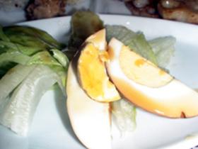 ゆで卵の甘酢トローリサラダ