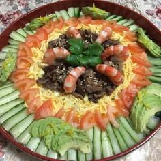 甘辛牛肉のちらし寿司♪