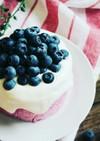 簡単ブルーベリー生マシュマロムースケーキ
