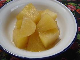 純玄米黒酢で☆りんごのさっぱり煮
