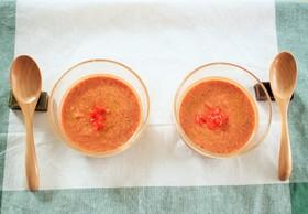 暑さ対策!トマトと大豆の冷製ポタージュ