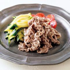 牛肉とズッキーニのマリネ