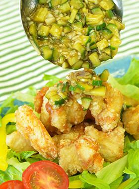 【キューリンチー】きゅうりが最高な油淋鶏