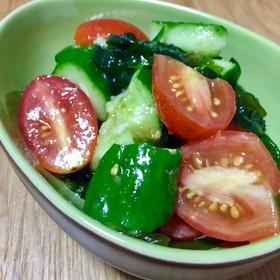 ミニトマトときゅうりの柚子胡椒和え