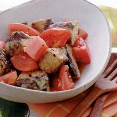揚げさばとトマトのマリネ