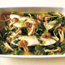 白身魚と野沢菜漬けのマリネ