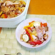 豚肉と夏野菜のちゃんちゃん焼き