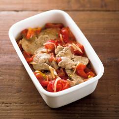 ヒレ肉のトマトソースマリネ
