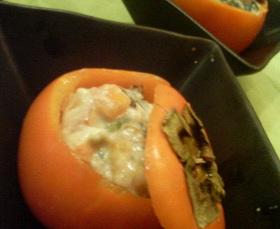 秋の前菜・富有柿の白和え