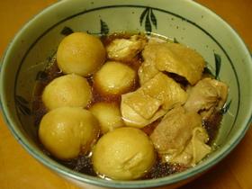 圧力鍋でやわらか♪サトイモと鶏肉の煮物