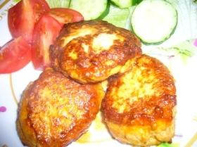 野菜と胸肉で作るハンバーグのさっぱり煮