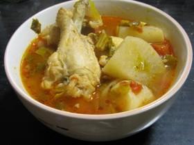 手羽元と大根のさっぱり煮トマトスープ