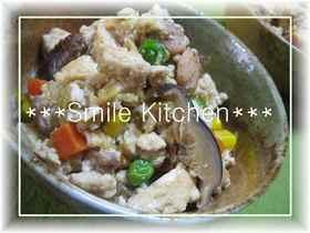 ✿ミックスベジタブルで♡簡単炒り豆腐✿